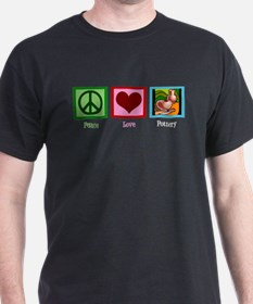 Peace Love Pottery T-Shirt