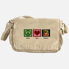 Peace Love Pottery Messenger Bag