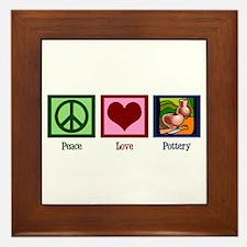 Peace Love Pottery Framed Tile