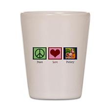 Peace Love Pottery Shot Glass