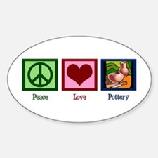 Peace Love Pottery Decal