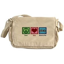 Peace Love Motorcycles Messenger Bag