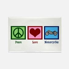 Peace Love Motorcycles Rectangle Magnet