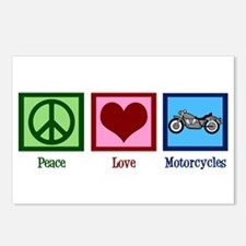 Peace Love Motorcycles Postcards (Package of 8)