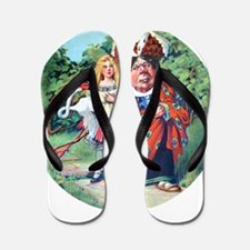 Alice and the Duchess_RD.png Flip Flops