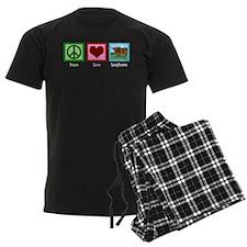 Peace Love Longhorns Pajamas