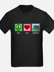 Peace Love Longhorns T