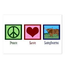 Peace Love Longhorns Postcards (Package of 8)