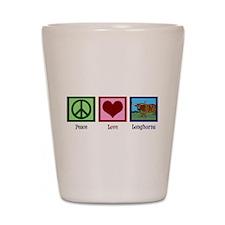 Peace Love Longhorns Shot Glass