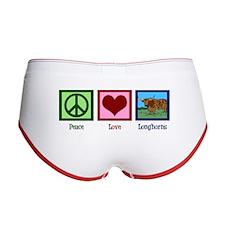 Peace Love Longhorns Women's Boy Brief