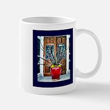 Red Vase With Plant Mug