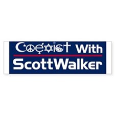 Coexist with Walker Bumper Car Sticker