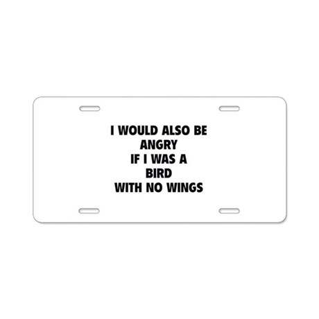Bird With No Wings Aluminum License Plate