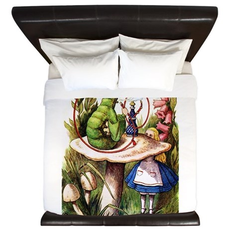 Alice and the Caterpillar King Duvet