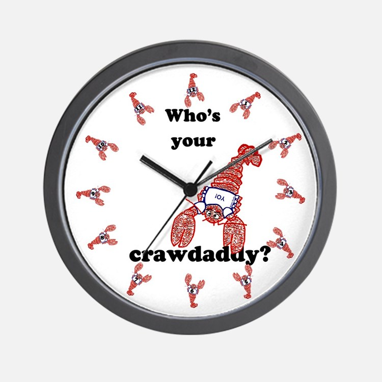 Who's Your Crawdaddy Wall Clock