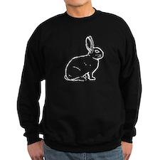 White Bunny Outline Sweatshirt
