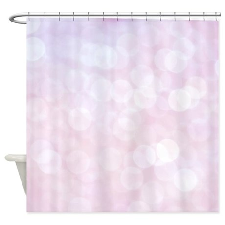 pink bokeh shower curtain by inspirationzstore