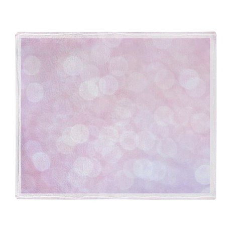 Pink Bokeh Throw Blanket