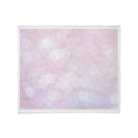 Pink Bokeh Throw Blanket
