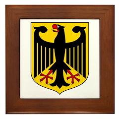 German Coat of Arms Framed Tile