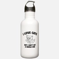 I Love Cats Sports Water Bottle