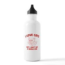 I Love Cats Sports Water Bottle