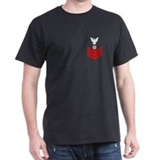 Quartermaster First Class<BR> Black T-Shirt