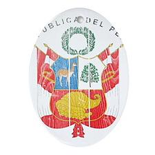 Peru Coat Of Arms Ornament (Oval)