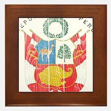Peru Coat Of Arms Framed Tile