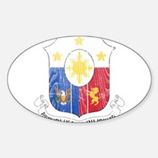 Philippines Coat Of Arms Sticker (Oval)