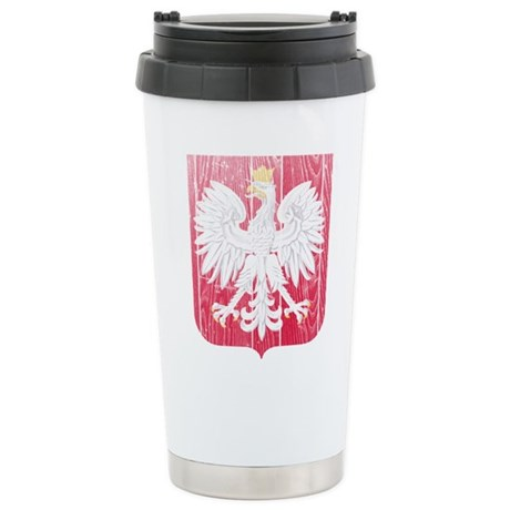 Poland Coat Of Arms Stainless Steel Travel Mug