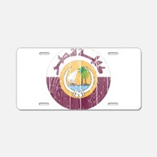 Qatar Coat Of Arms Aluminum License Plate