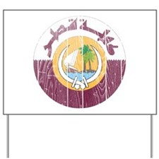 Qatar Coat Of Arms Yard Sign