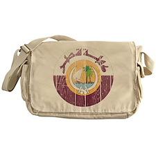 Qatar Coat Of Arms Messenger Bag