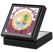 Qatar Coat Of Arms Keepsake Box