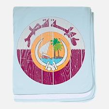 Qatar Coat Of Arms baby blanket