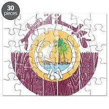 Qatar Coat Of Arms Puzzle