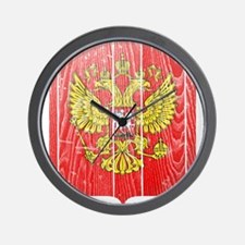 Russia Coat Of Arms Wall Clock