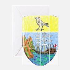Saint Helena Coat Of Arms Greeting Card
