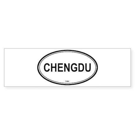 Chengdu, China euro Bumper Sticker