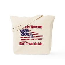 Patriots Welcome - Gadsden Flag Tote Bag