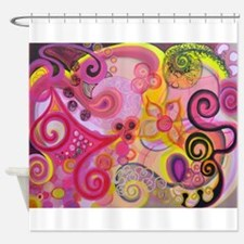 Bubble Gum Mood Shower Curtain
