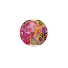Bubble Gum Mood Mini Button