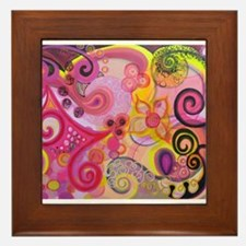 Bubble Gum Mood Framed Tile