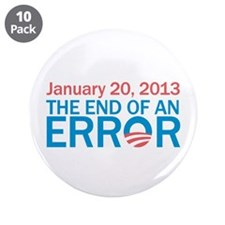 """The End Of An Error 3.5"""" Button (10 pack)"""