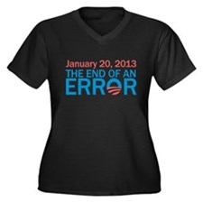 The End Of An Error Women's Plus Size V-Neck Dark