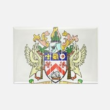 Saint Kitts Nevis Coat Of Arms Rectangle Magnet