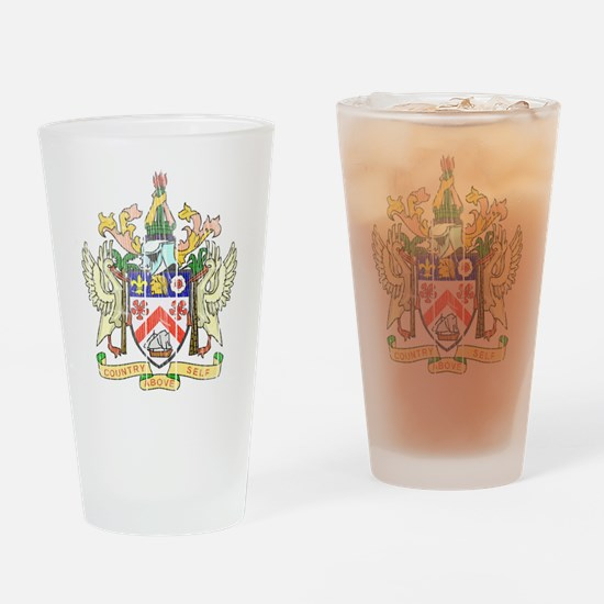 Saint Kitts Nevis Coat Of Arms Drinking Glass