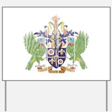 Saint Lucia Coat Of Arms Yard Sign