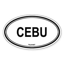 Cebu, Philippines euro Oval Decal